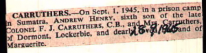 Carruthers 28 Sept 1945