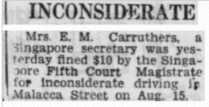 E M Carruthers Ref 17 November 1949