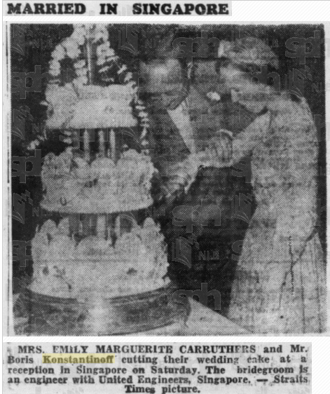 Carruthers re married 26 June 1950