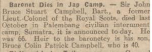 JOHN Bruce CAMPBELL July 29 1944