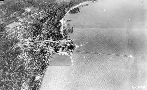 Muntok Pier Aerial View 1930s for web