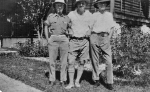 Three planters (Colin Campbell on right)