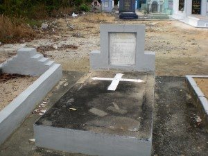 The grave at the Catholic cemtery