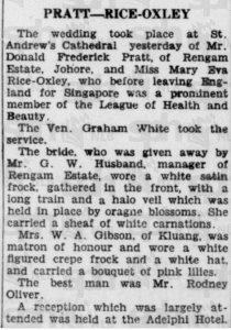 Pratt Rice Oxley Wedding 12 April 1936A
