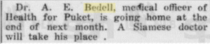 AE Bedell leaving Pucket
