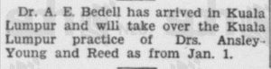 Beddell Mention 21 December and Ansley Young 1933