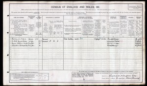 Christine Gladys Guy Cleveley on 1911 census