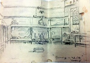 Christined Edited Interior of Camp Drawing