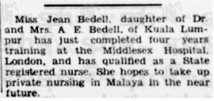 Jean Bedell 8 May 1937