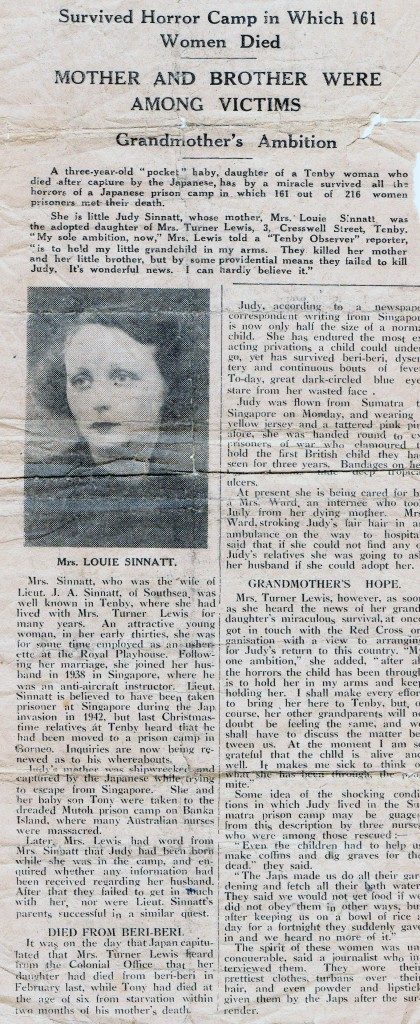 Louise Sinnatt article