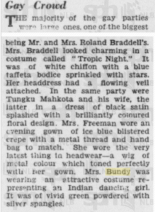 Mrs Bundy in Indian Costume 5 Jan 1936