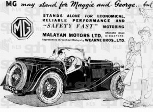 Wearne Bros MG ad 20 May 1940