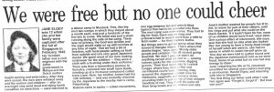 Jane Elgey Daily Mail 1995 Recollection Reduced