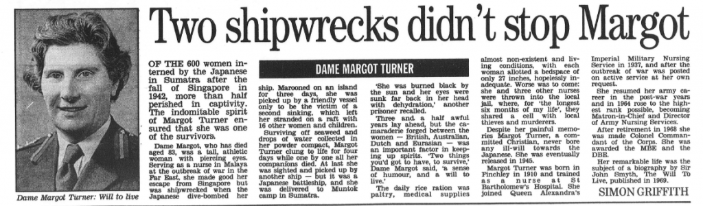 Dame Margot Turner Article