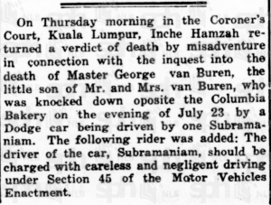 Van Buren Car Accident Verdict 2 September 1929