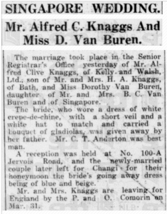 Van Buren Wedding 21 March 1933